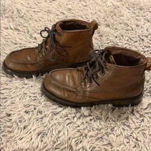 High Sierra brown leather work boot size 10